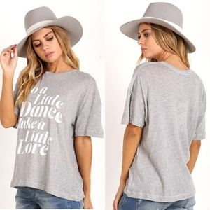Wildfox 'Do A Little Dance' Grey Sonic Tee